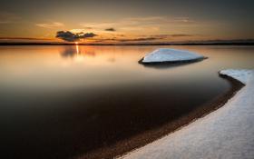 Картинка море, утро, зима