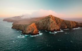 Обои пейзаж, берег, Санта-Крус, море