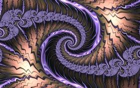 Обои спираль, свет, фрактал, узор, цвет