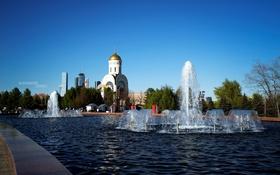 Обои фотограф, церковь, фонтан, photography, photographer, Александр Гринев