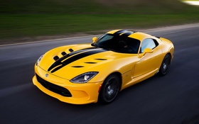 Обои car, fast, Dodge, speed, imposing, high-performance, bold lines