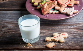 Обои Новый Год, печенье, Рождество, Christmas, выпечка, сладкое, Xmas