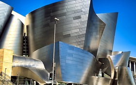 Обои небо, улица, США, Los Angeles, Walt Disney Concert Hall