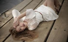 Картинка girl, blonde, lay