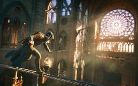 Обои здание, бег, Assassin's Creed Unity, арно