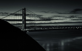 Обои Калифорния, небо, San Francisco, ночь, Bay Bridge, огни, город