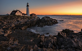 Обои Portland, Sunrise, Head Light