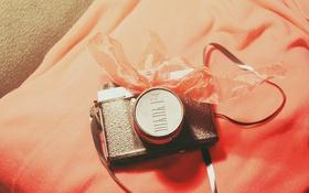 Картинка фотоаппарат, бантик, ленточка