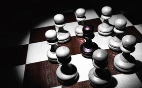 Обои шахматы, пешки, доска