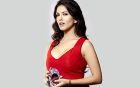 Картинка girl, Sunny Leone, beauty, face, Actress, close up