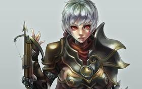 Обои девушка, красавица, League of Legends, арбалет, riven, Exile