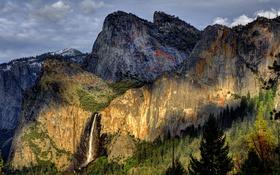Картинка лес, горы, природа, водопад, национальный парк
