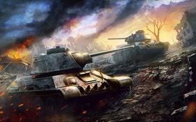 Обои танк, USSR, СССР, танки, Т-34, WoT, Мир танков