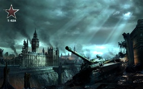 Картинка Photoshop, World of Tanks, T-62A