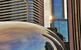 Обои парк, здания, америка, чикаго, Chicago, сша, центр