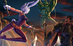 Картинка League of Legends, Riven, Singed, the Exile, Darius, the Secret Weapon, Zac