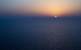 Обои море, восход, горизонт, бесконечность