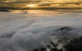 Картинка небо, ночь, туман