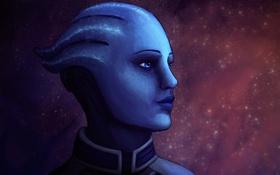 Обои Mass Effect, liara, asari, Liara T'Soni, scientist