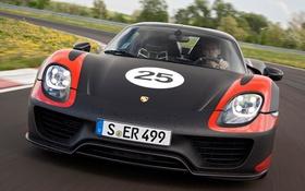 Обои машина, Prototype, Porsche, 918, передок, 2013