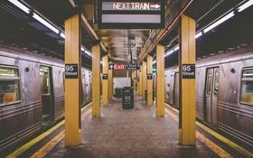 Обои метро, мусор, станция
