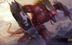 Обои лезвия, демон, рога, hon, мышцы, Heroes of Newerth, Night Hound