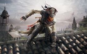 Обои Ubisoft, убийца, Авелина Де Гранпре, девушка, напарница, Assassin's Creed III: Liberation, ассасин