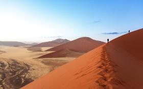 Картинка sand, desert, dawn, heat