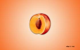 Обои еда, peach, персик, минимализм