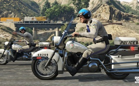 Обои мотоциклы, полиция, майкл, Grand Theft Auto V, gta 5, тревор