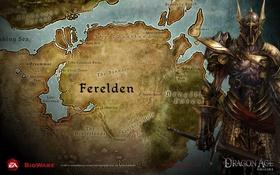 Обои карта, век, ferelden, monstr, dao, ферелден, дракон