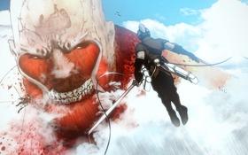 Картинка anime, fan art, Attack on Titan, Shingeki no Kyojin, titan