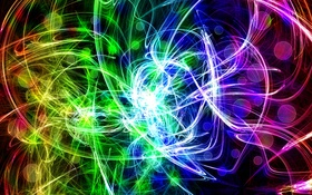 Обои линии, свет, фрактал, узор, цвет