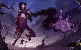 Обои Герои Новоземья, mae nak, S2 Games, Lady Nak, moba, Heroes of Newerth, рука