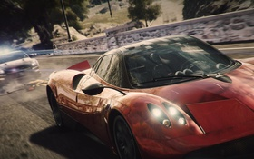 Обои погоня, pagani huayra, Nissan, GTR, дарога, копы, Need for Speed Rivals