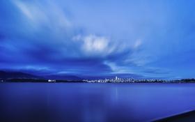 Картинка пляж, город, панорама, Downtown Vancouver