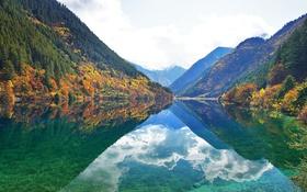 Обои облака, фьорд, небо, горы, отражение, зеркало
