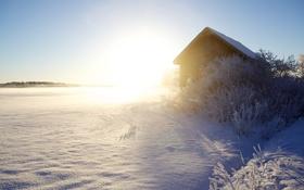 Картинка зима, свет, дом
