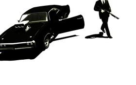 Картинка машина, оружие, мужик, gta, Grand Theft AutoIV