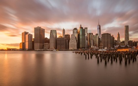 Обои город, USA, америка, New York City, сша, небоскребы, нью йорк