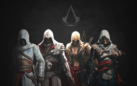 Картинка Ezio, Assassin's Creed, Altair, Edward, Connor, Edward Kenway, Kenway