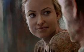 Картинка девушка, лицо, актриса, оливия уайлд, арт, Olivia Wilde