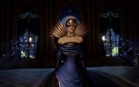 Картинка девушка, маска, королева, Dragon Age Inquisition