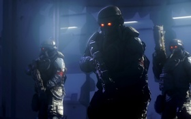 Картинка killzone, troopers, space marines, PlayStation 4, Killzone: Shadow Fall, helghast