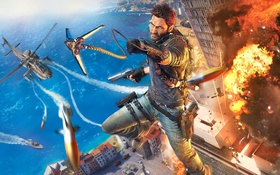Обои Square Enix, Рико, Just Cause 3, Avalanche Studios, Крюк