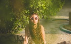 Обои лето, девушка, очки