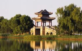 Обои Palace, отражение, Китай, The West Bund Of The Summer, Beijing