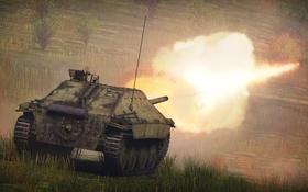 Картинка огонь, Hetzer, War Thunder, «Хетцер», Jagdpanzer 38