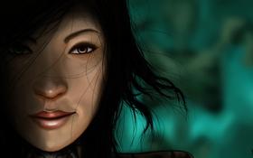 Обои волосы, лицо, Wizard, маг, арт, Diablo 3, девушка