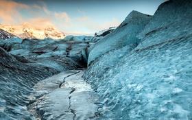 Обои пейзаж, горы, лёд